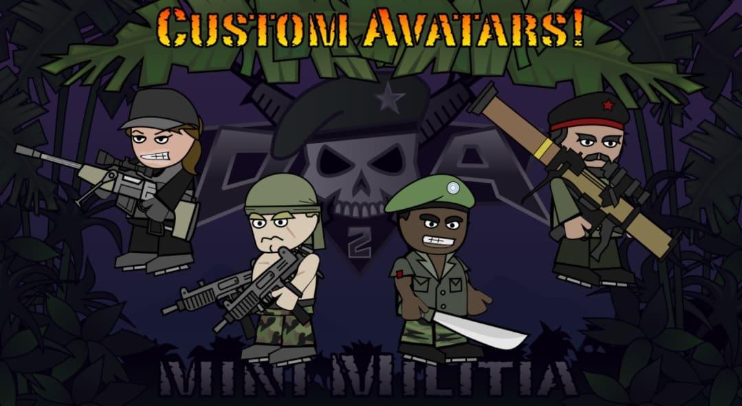 Mini Militia Pro Pack+Avatars Unlocked